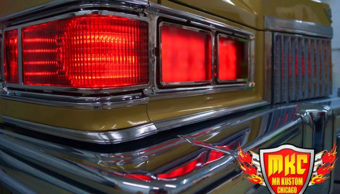 1975 Cadillac Deville Big Krit DJ Booth Red Headlight