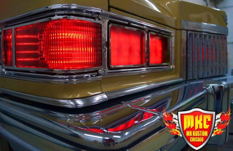 1975 Cadillac Deville Big Krit DJ Booth Red Headlight