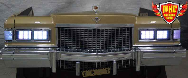 1975 Cadillac Deville Big Krit DJ Booth White Headlights