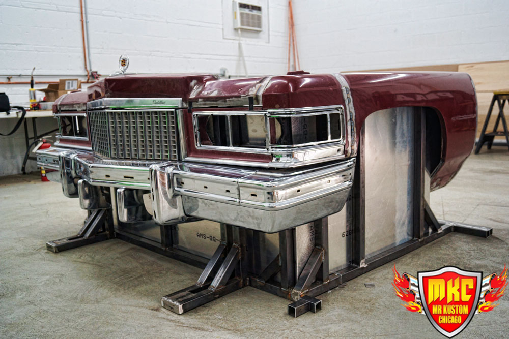 1975 Cadillac Deville DJ Booth Drivers Side Build