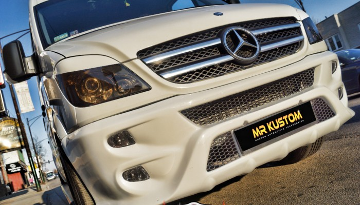 2010 Mercedes Sprinter Custom Grille Black Mesh