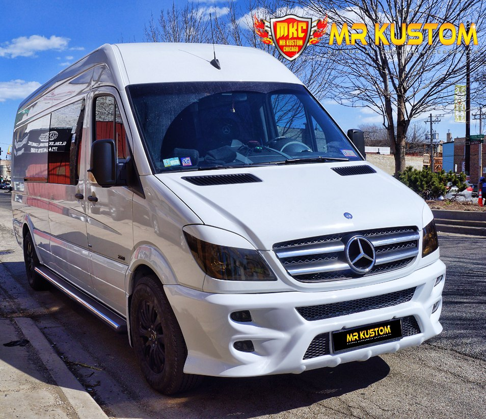 2010 Mercedes Sprinter Custom White Van