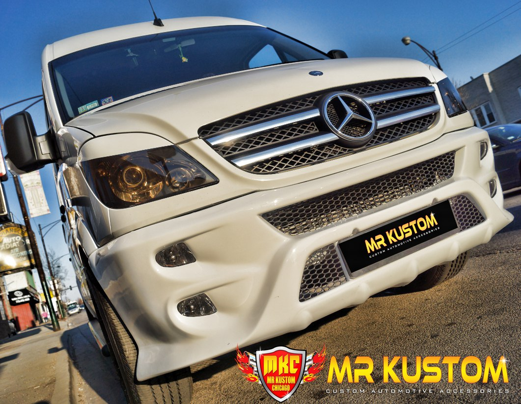 Custom Grille Guards >> Mercedes Benz Sprinter Custom Body Kit - Mr. Kustom Auto Accessories and Customizing