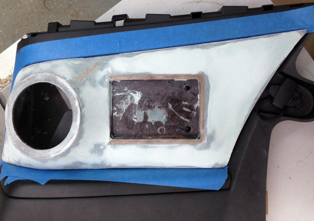 2011 Camaro SS Custom Sub Enclosure Rear Raw Panel