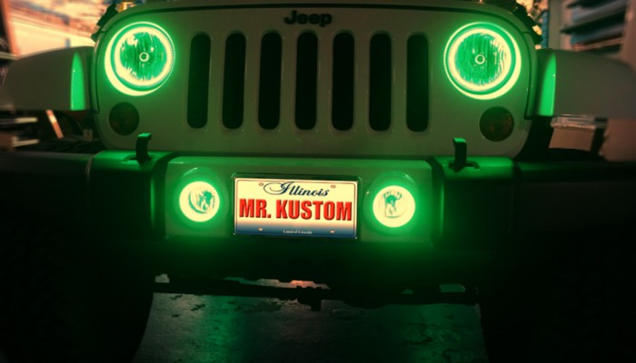 Multi Color Halo Lights 2012 Jeep Wrangler