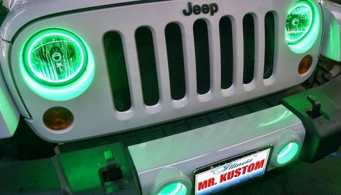 Green Halos Jeep Wrangler