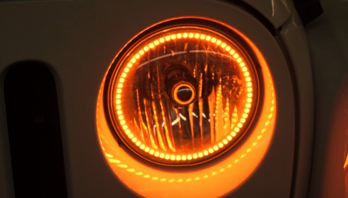 Jeep Wrangler Orange Halo Headlights
