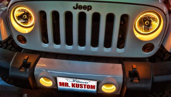 Jeep Wrangler Halos Headlights Fog Lights