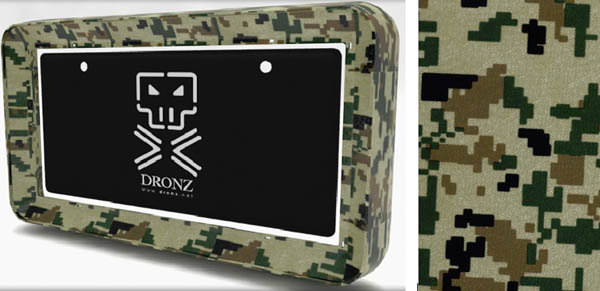 army camouflage license plate frame