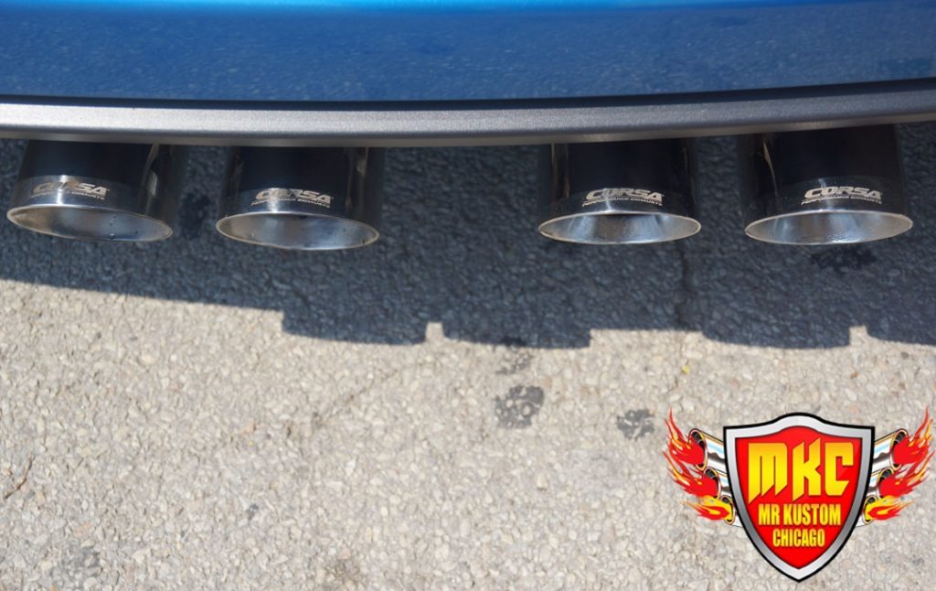 Corsa Exhaust Tips 2009 Corvette ZO6 Blue