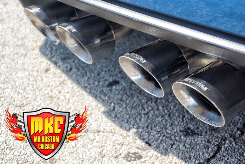 Corsa Exhaust Tips Corvette ZO6 Blue