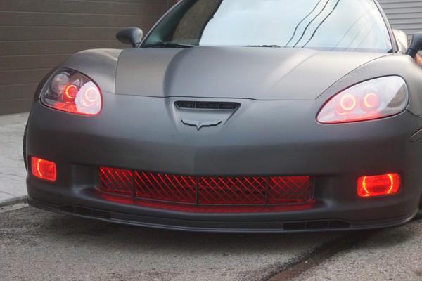 Corvette ZO6 Red Halo Headlight Rings