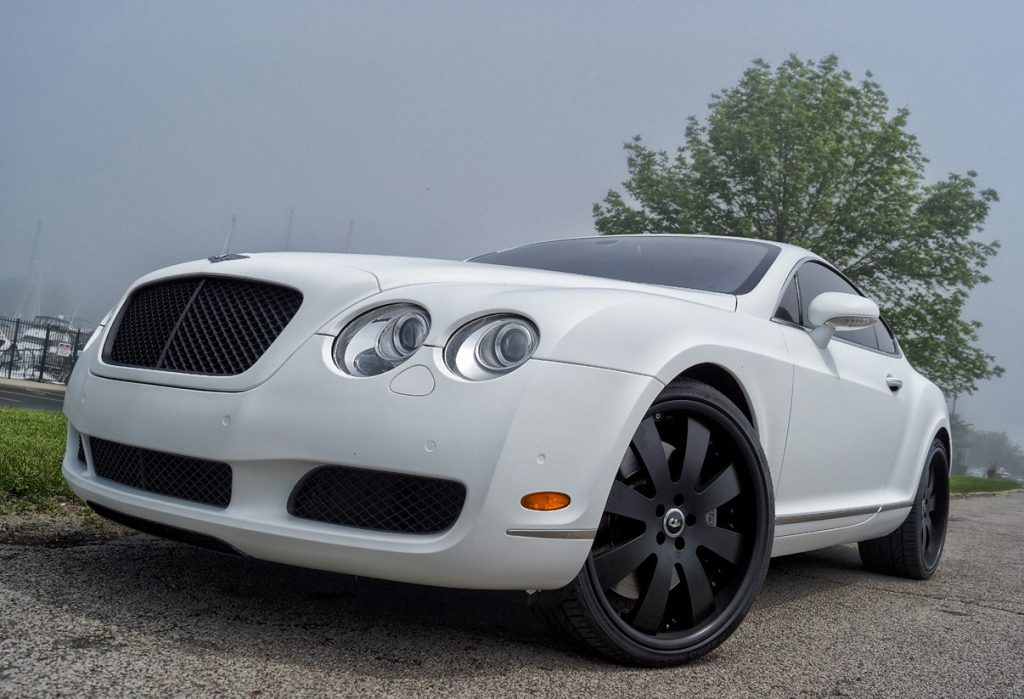 2005 Bentley Continental Matte White Wrap