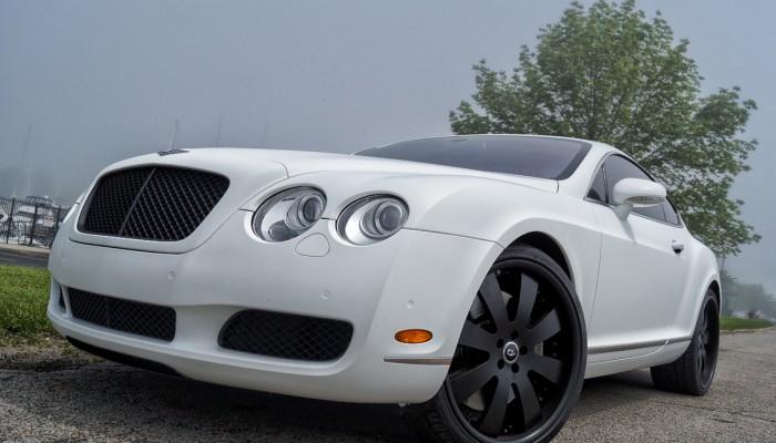 2005 Bentley Continental Matte White Wrap