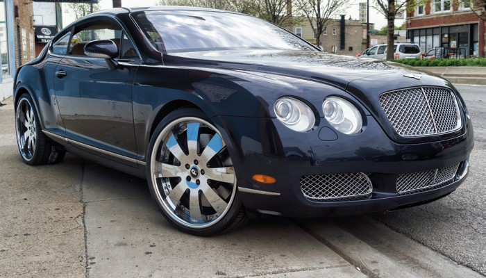 2005 Bentley Continental Matte White Wrap Before