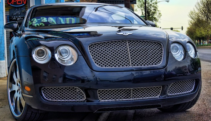2005 Bentley Continental Powder Coated Grille Before