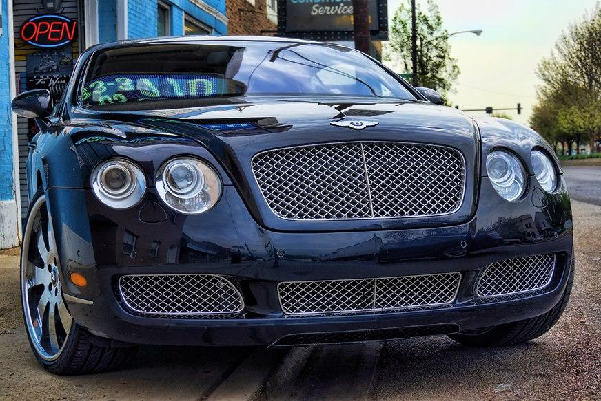Bentley Continental Powder Coated Grille Before on 2002 Hyundai Elantra Flex Pipe