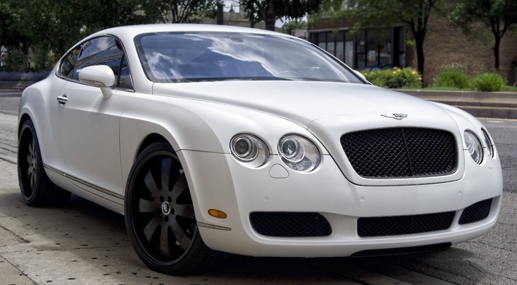 2005 Matte White Bentley Continental
