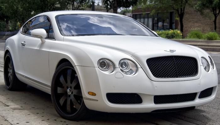 2005 Matte White Bentley Continental