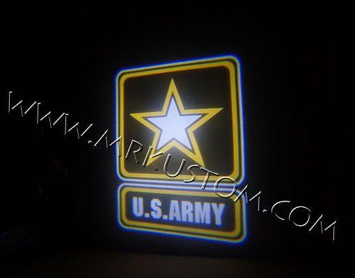 Army LED Courtesy Logo Projector Lights