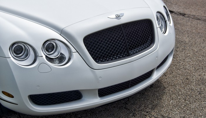 Bentley Continental Custom Black Grille Powder Coated