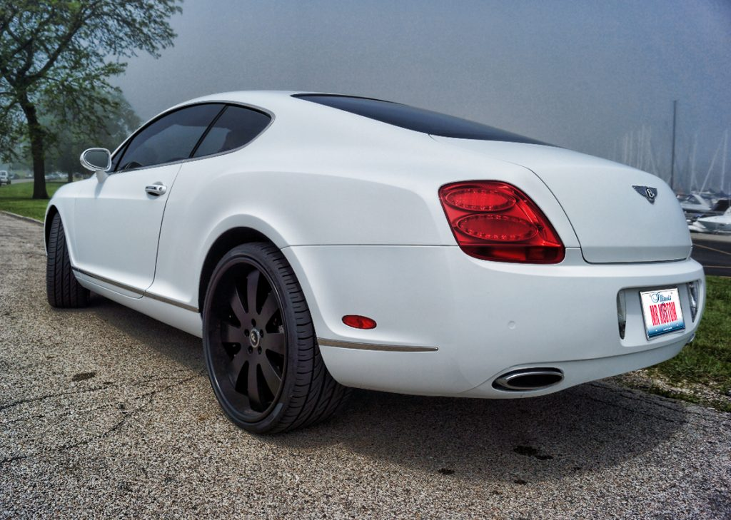Bentley Continental Matte White Car Wrap 2005