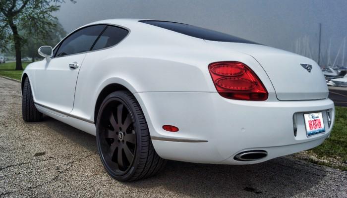 Bentley Continental Matte White Car Wrap 2005