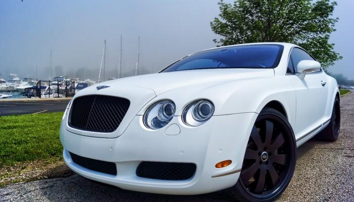 Bentley Continental Matte White Wrap 2005