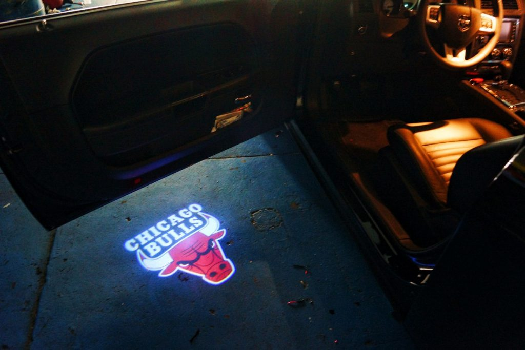 Chicago Bulls Door Projector Puddle Logo LED Lights