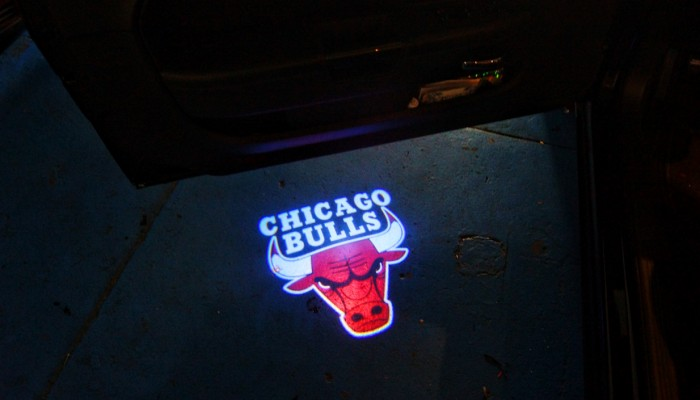 Chicago Bulls Door Projector Puddle Logo Lights