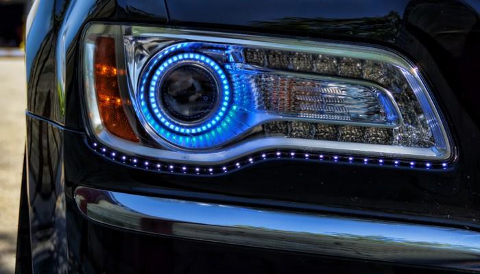 Chrysler 300 Blue Halo Headlights 2012