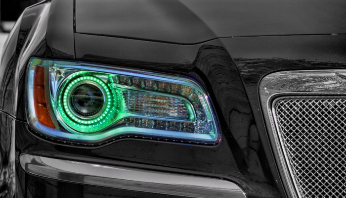 Chrysler 300 Green Halo Headlights 2012