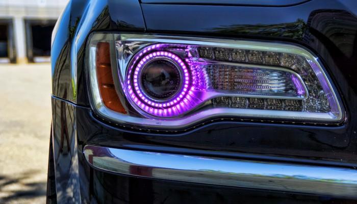 Chrysler 300 Purple Halo Headlights 2012