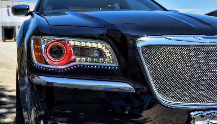 Chrysler 300 Red Halos Angel Eyes 2012