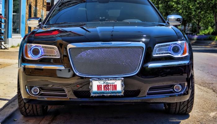 Chrysler 300 White Halos Headlights 2012