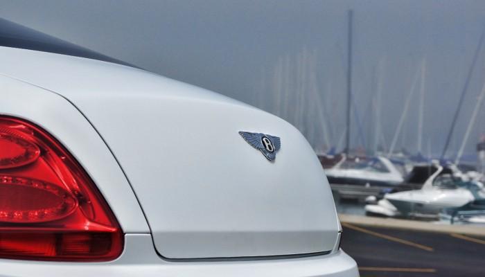 Matte White Bentley Continental Car Wrap