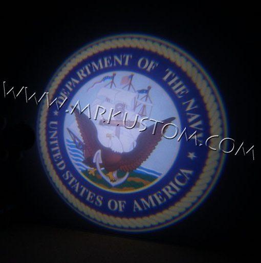 Navy LED Door Projector Courtesy Puddle Logo Lights
