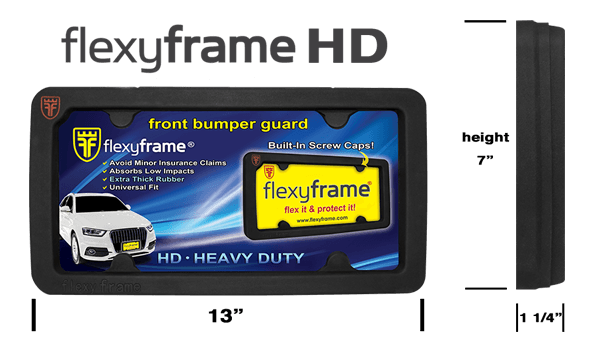 Rubber License Plate Frame Heavy Duty