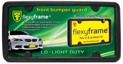 Rubber License Plate Frame Light Duty