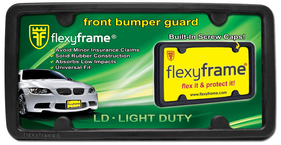 Rubber License Plate Frame FlexyFrame Light Duty ... : retractable plate holder - pezcame.com
