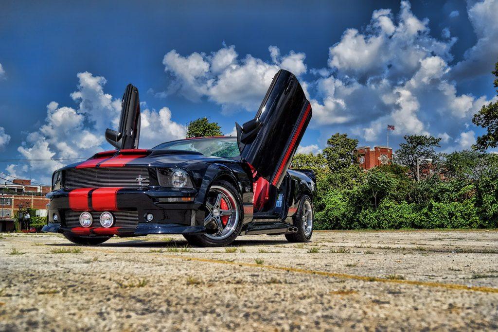 Custom Ford Mustang GT Lambo Doors