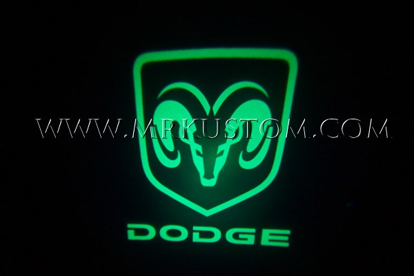 Green Dodge Ram Led Door Projector Courtesy Puddle Logo Light