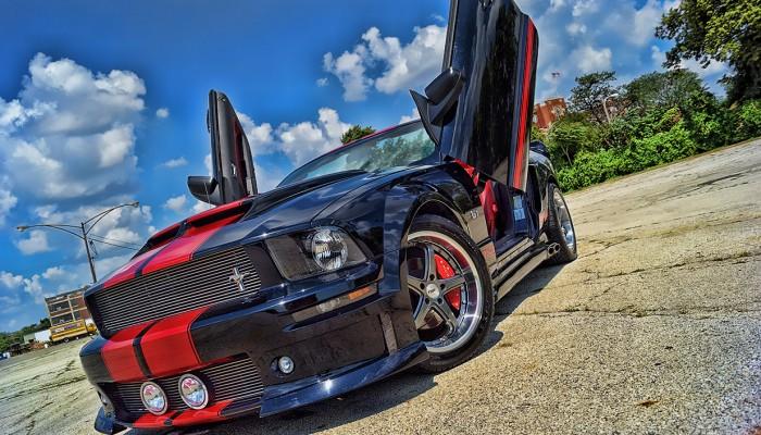 Ford Mustang Lamborghini Doors