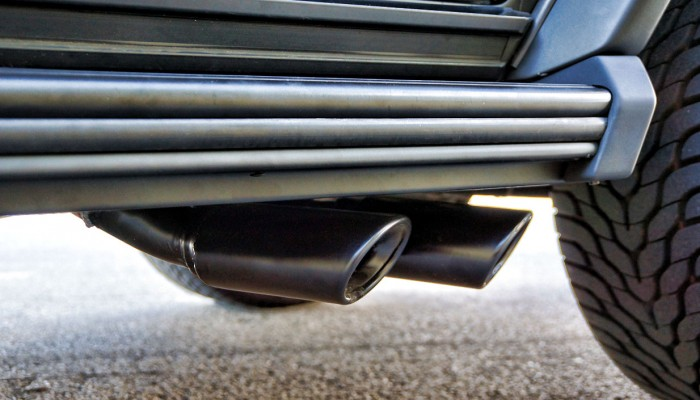 Black Mercedes Exhaust Tips G Wagon G55