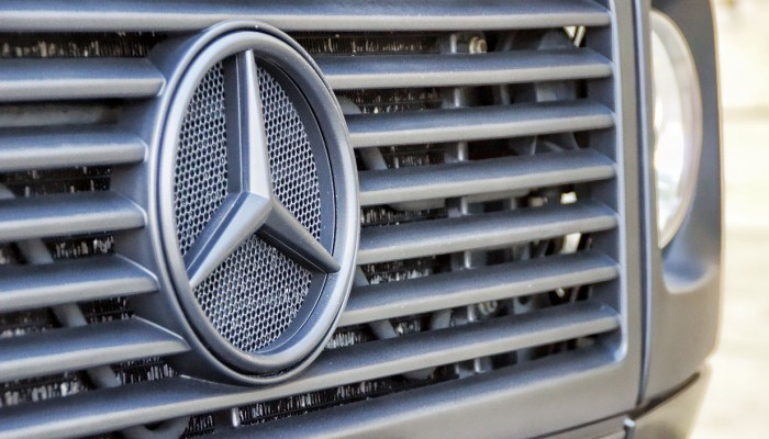 Black Powder Coated Mercedes Grille