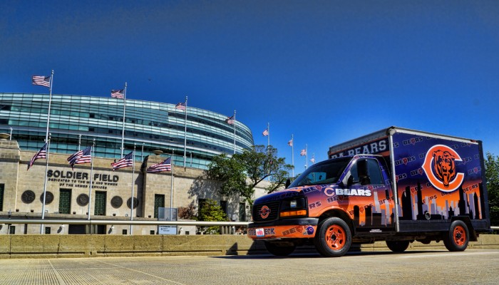 Chicago Bears Tailgating Truck