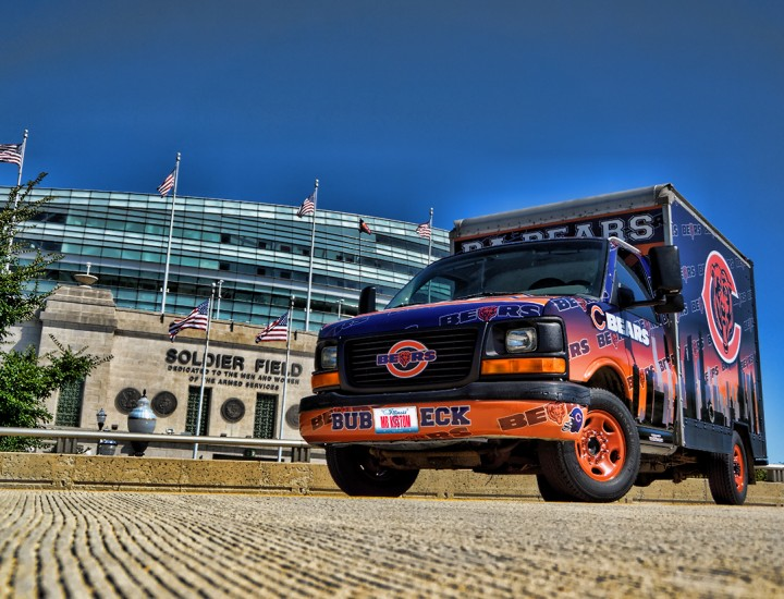 Chicago Bears Tailgating Truck – Mr. Kustom Chicago