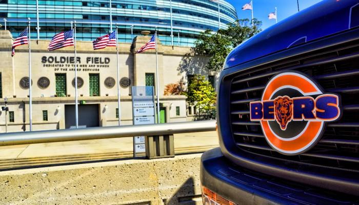 Chicago Bears Grille Emblem Badge