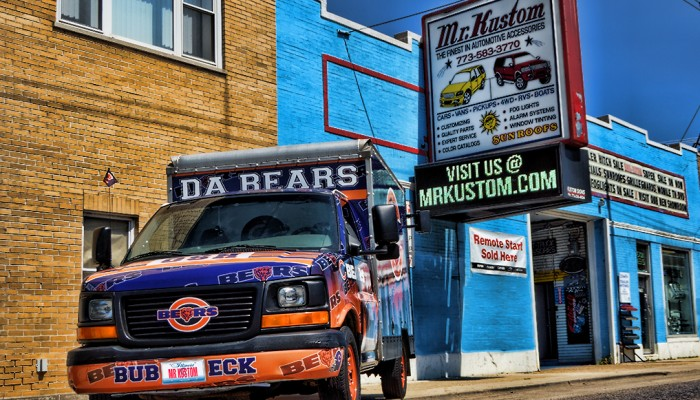 Chicago Bears Party Truck Tailgating