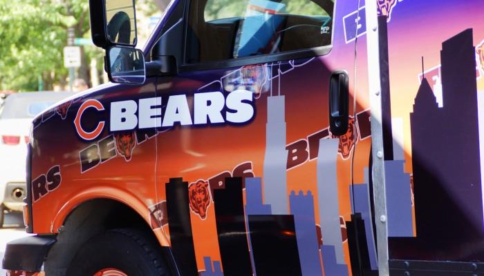 Chicago Bears Party Van Truck